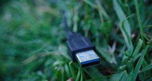 USB SuperSpeed Cable over the lawn